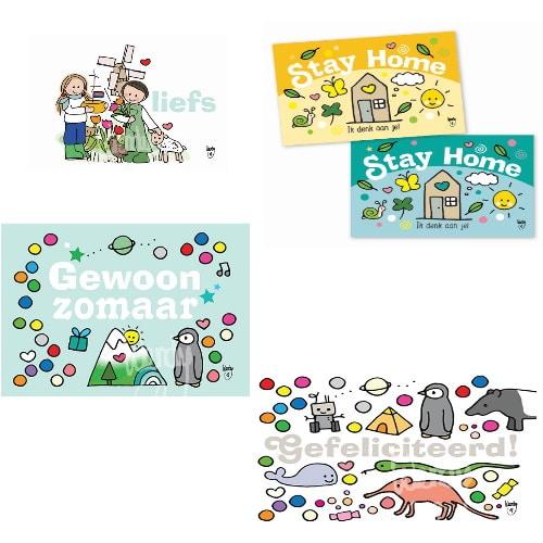 Ansichtkaart mini's