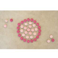 Grapat mandala roze bloemen (18-203)