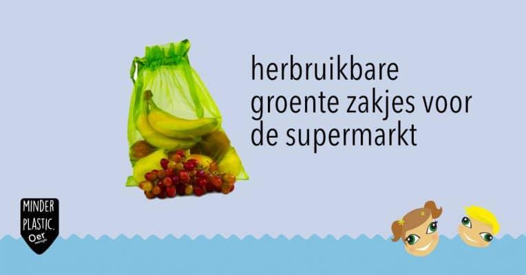 herbruikbare groente zakjes voor in de supermarkt