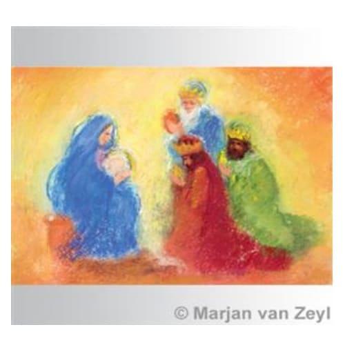 Ansichtkaart Drie koningen (Marjan van Zeyl)