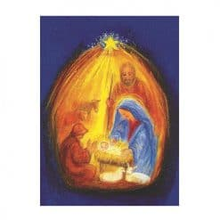 Ansichtkaart Een stal in Bethlehem (Marjan van Zeyl)