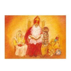 Ansichtkaart Sinterklaas (Marjan van Zeyl)