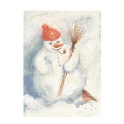 Ansichtkaart Sneeuwpop (Marjan van Zeyl)