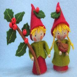 Twee kleine kerstkabouters - Atelier Pippilotta