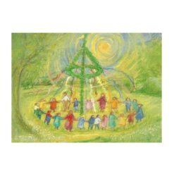 Ansichtkaart Meiboomdans (Marjan van Zeyl)