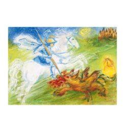 Ansichtkaart Joris en de draak - Marjan van Zeyl