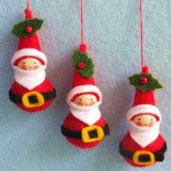 Drie kerstmannetjes - Atelier Pippilotta