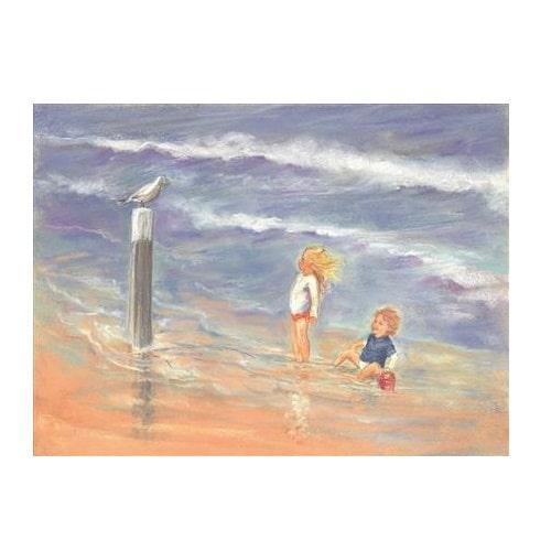 Ansichtkaart Kijk een zeemeeuw (Marjan van Zeyl)