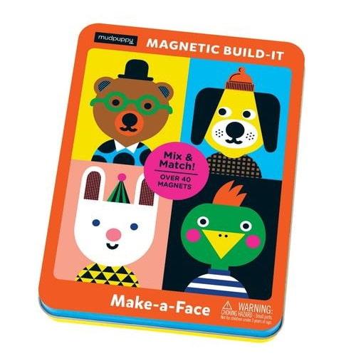 Magnetische aankleedpoppen - gekke gezichten