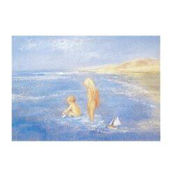 Ansichtkaart In zee spelen (Marjan van Zeyl)