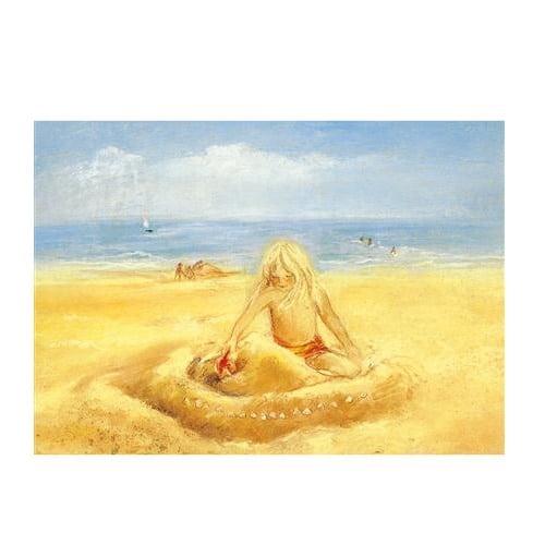 Ansichtkaart Op het strand (Marjan van Zeyl)