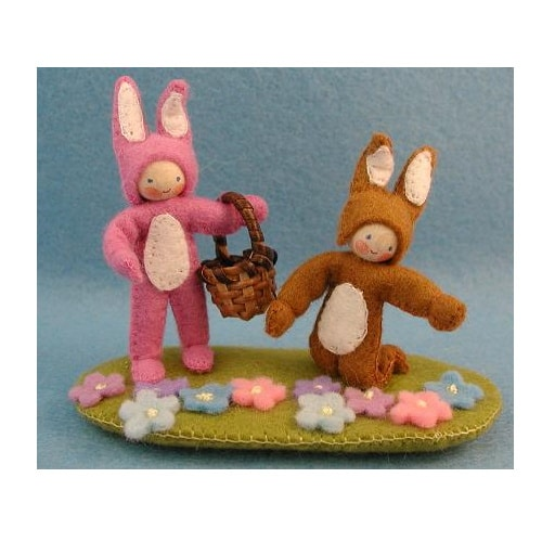 Twee paashaasjes - Atelier Pippilotta