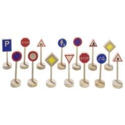 Goki houten verkeersborden