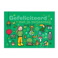 Ansichtkaart Hoera (groen)